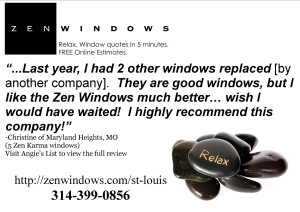 Testimonial for Zen Windows St Louis